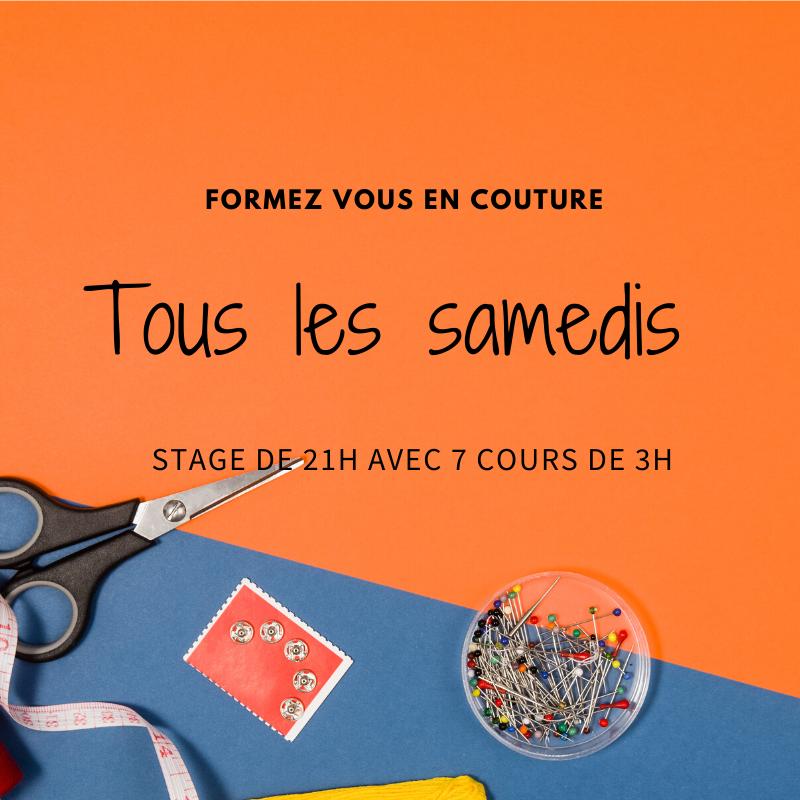 Cours de couture tous les samedis à Paris
