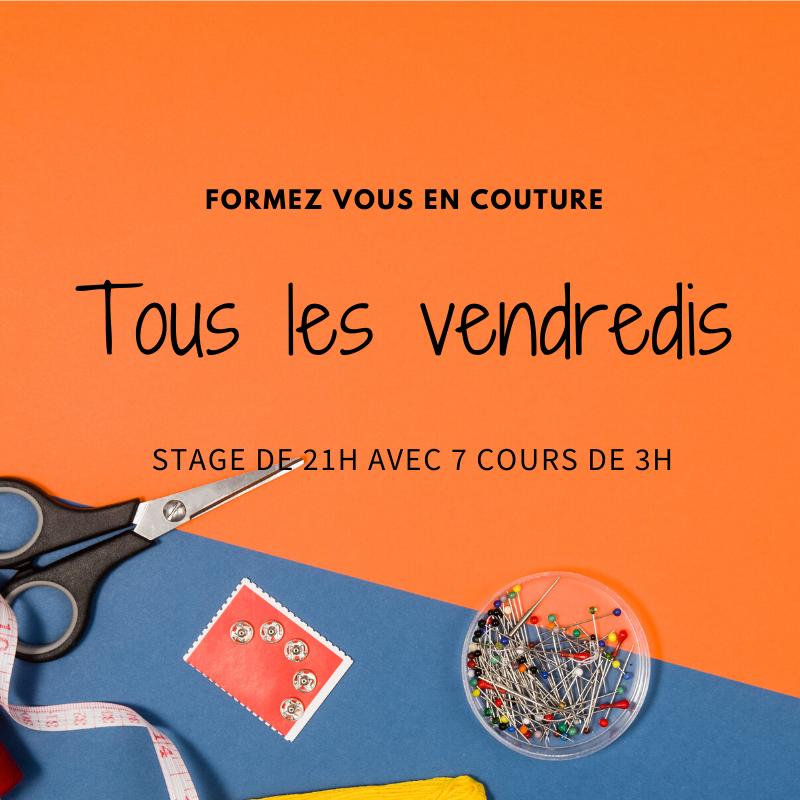 Cours de couture tous les vendredis à Paris
